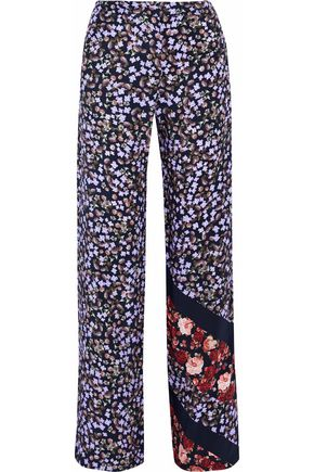 MOTHER OF PEARL Floral-print silk wide-leg pants