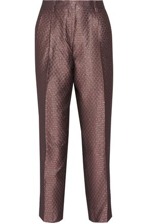 ETRO Metallic jacquard straight-leg pants