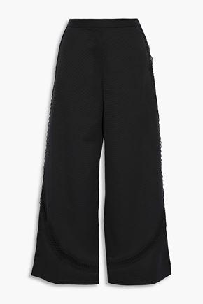 SACHIN & BABI Crochet-trimmed faille culottes
