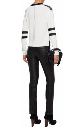 BELSTAFF Paneled leather skinny-leg pants