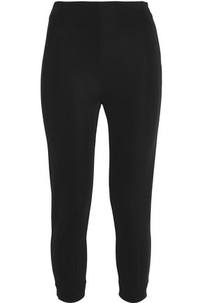 MSGM Cropped jersey leggings