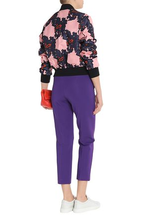 MSGM Cropped stretch-cady tapered pants