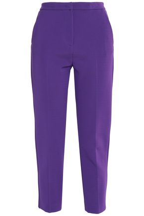 MSGM Cropped cady tapered pants