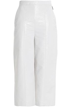 MSGM Faux leather culottes