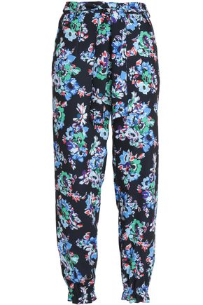 MSGM Floral-print crepe tapered pants