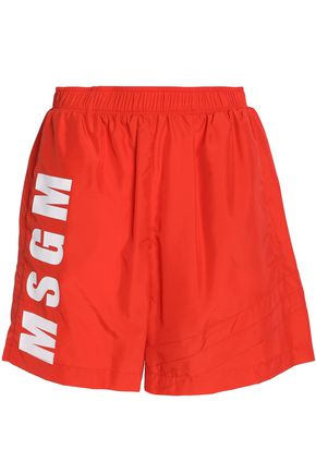MSGM Printed shell shorts