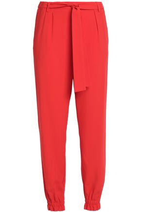 MSGM Tie-front crepe tapered pants