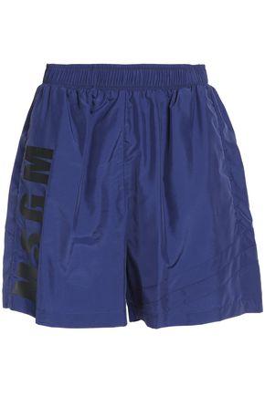 MSGM Printed shell shorts