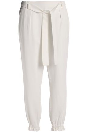 MSGM Belted crepe tapered pants