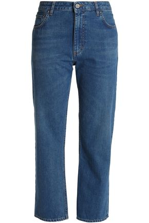 ACNE STUDIOS Cropped high-rise straight-leg jeans