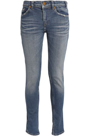 JIL SANDER Faded mid-rise skinny jeans