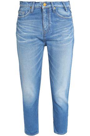 JIL SANDER Cropped faded mid-rise slim-leg jeans