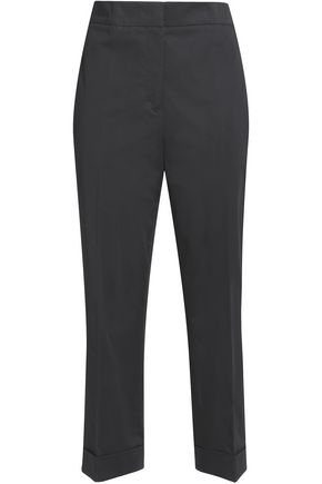 JIL SANDER Cropped cotton-blend tapered pants