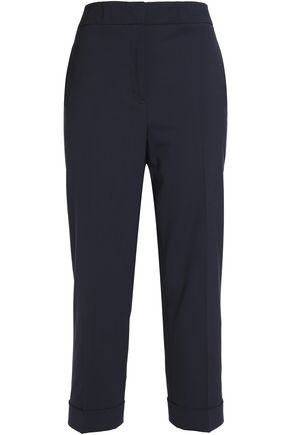 JIL SANDER Cropped wool-blend canvas tapered pants