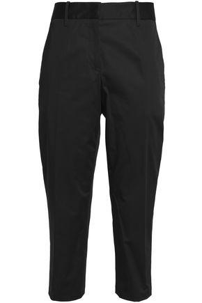 JIL SANDER Cropped cotton-blend slim-leg pants