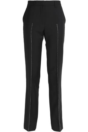 JIL SANDER Metallic embroidered wool and mohair-blend tapered pants
