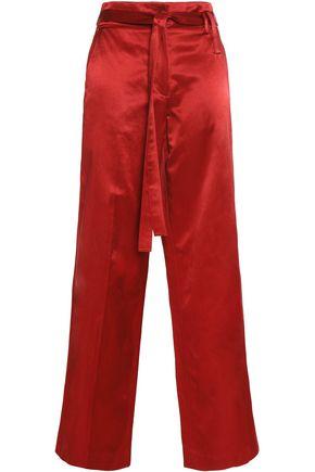 HELMUT LANG Belted satin wide-leg pants