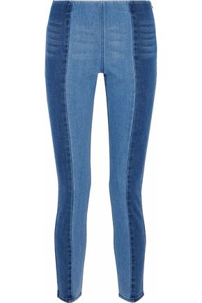 BY MALENE BIRGER Two-tone high-rise slim-leg jeans