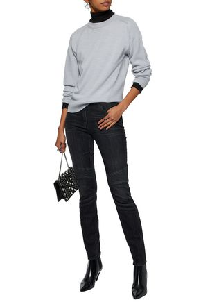 BELSTAFF Ribbed-paneled low-rise skinny jeans
