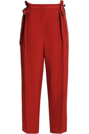 ROKSANDA Bow-detailed cady tapered pants