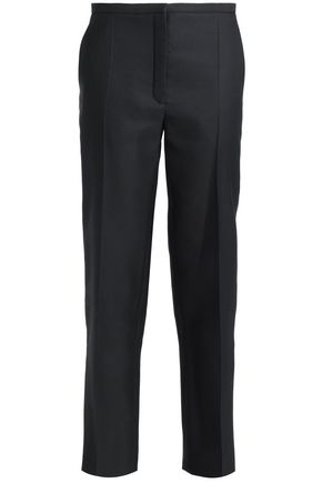 NINA RICCI Wool and silk-blend twill tapered pants