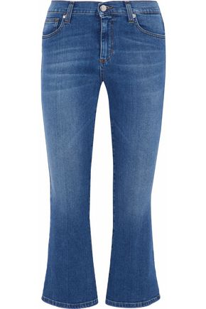 IRIS & INK Addison cropped mid-rise flared jeans