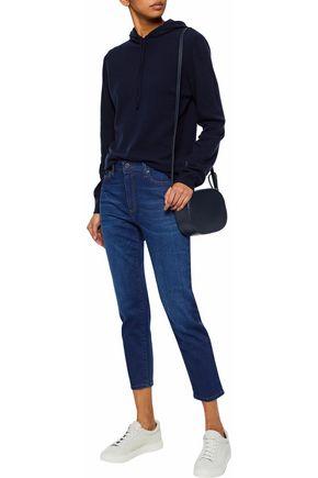 IRIS & INK Brendan cropped mid-rise slim-leg jeans