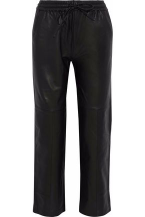 J BRAND Leather straight-leg pants