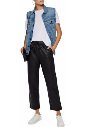 02db96a8e306 ... J BRAND Leather straight-leg pants ...