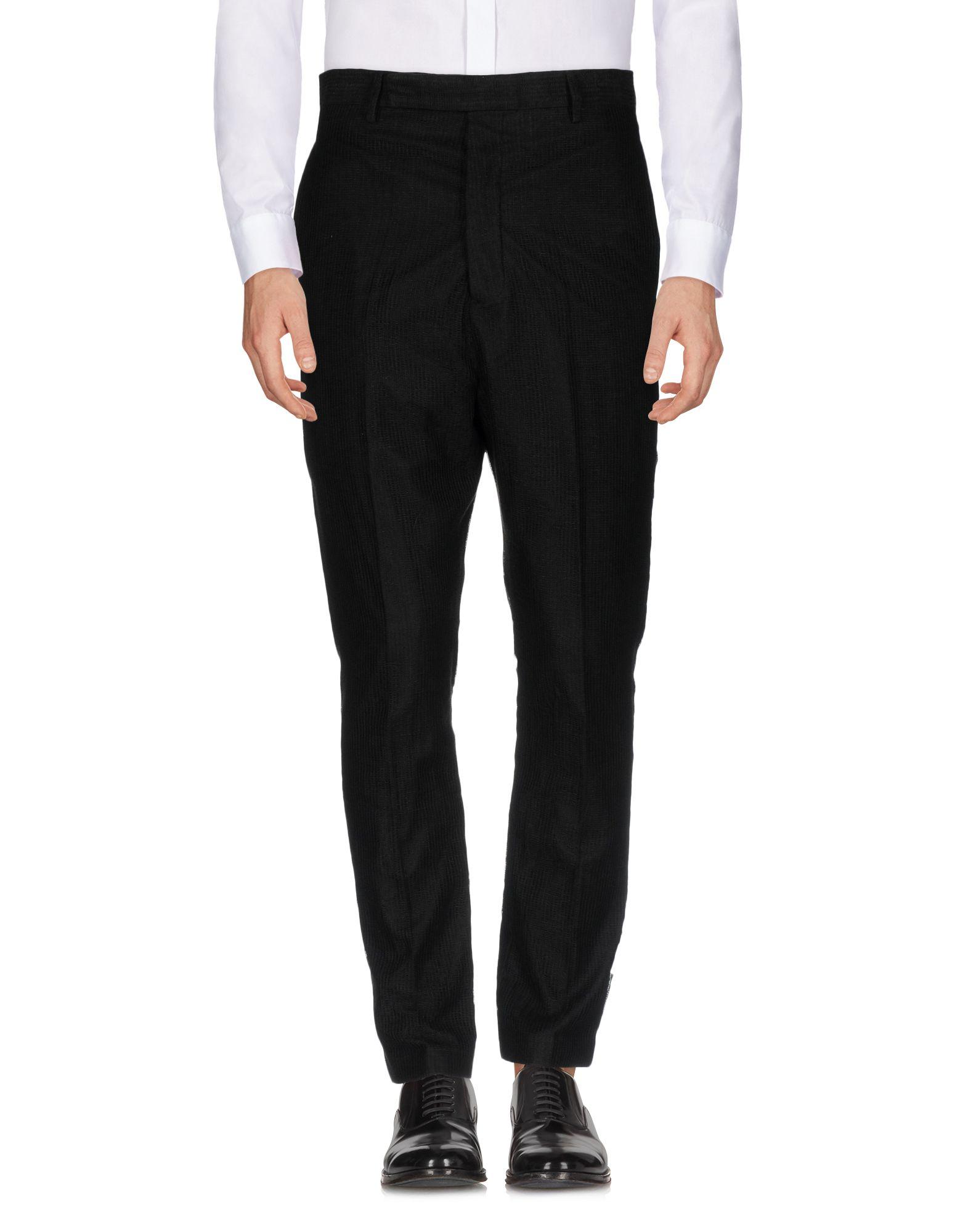 《セール開催中》RICK OWENS メンズ パンツ ブラック 46 麻 100%