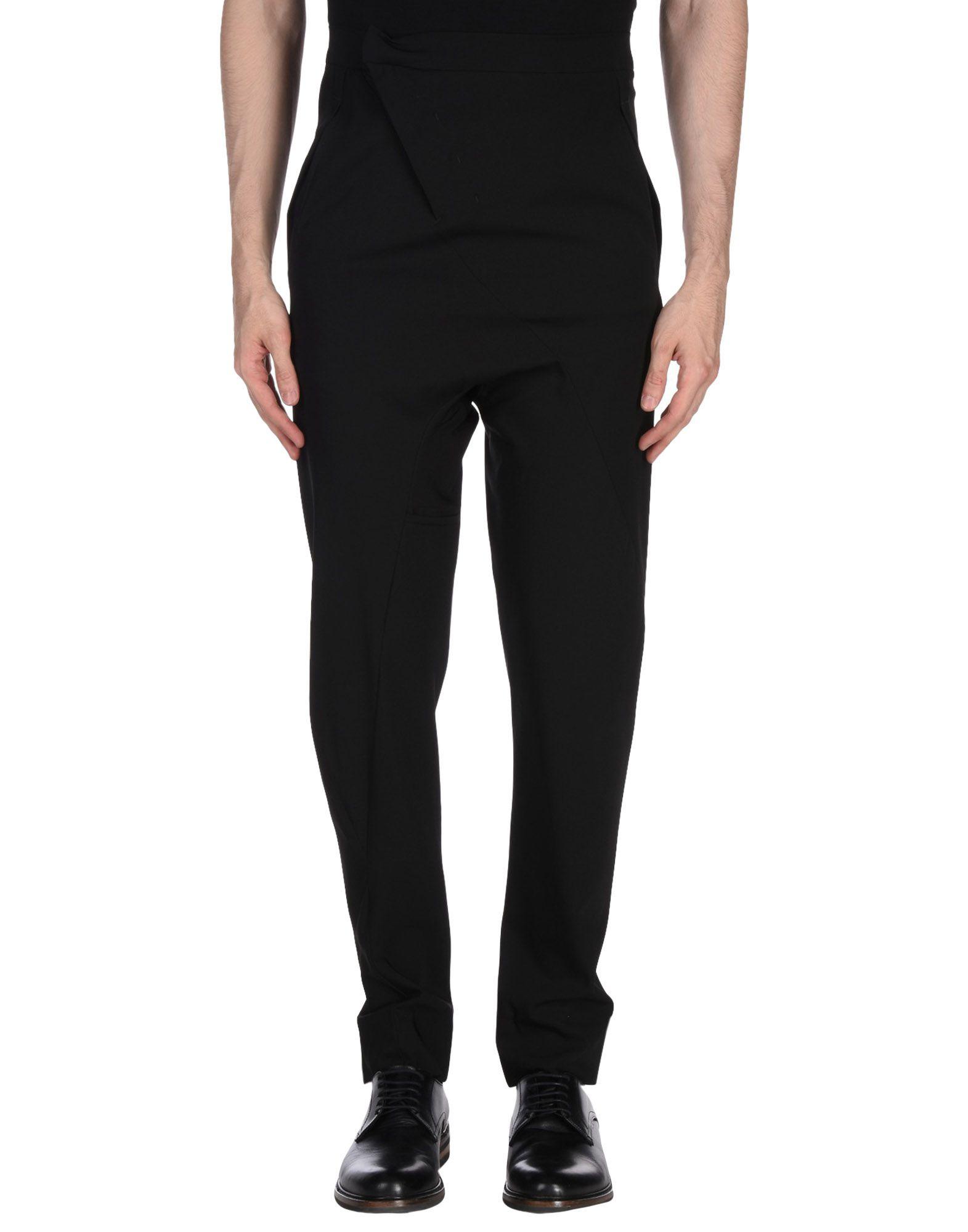 《送料無料》LUMEN ET UMBRA メンズ パンツ ブラック 42 バージンウール 100%