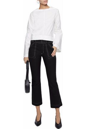 DEREK LAM 10 CROSBY Stretch-cotton twill kick-flare pants
