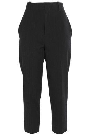 VINCE. Stretch wool and cotton-blend tapered pants