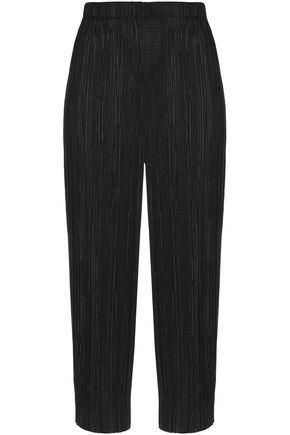 ALICE + OLIVIA Cropped plissé tapered pants