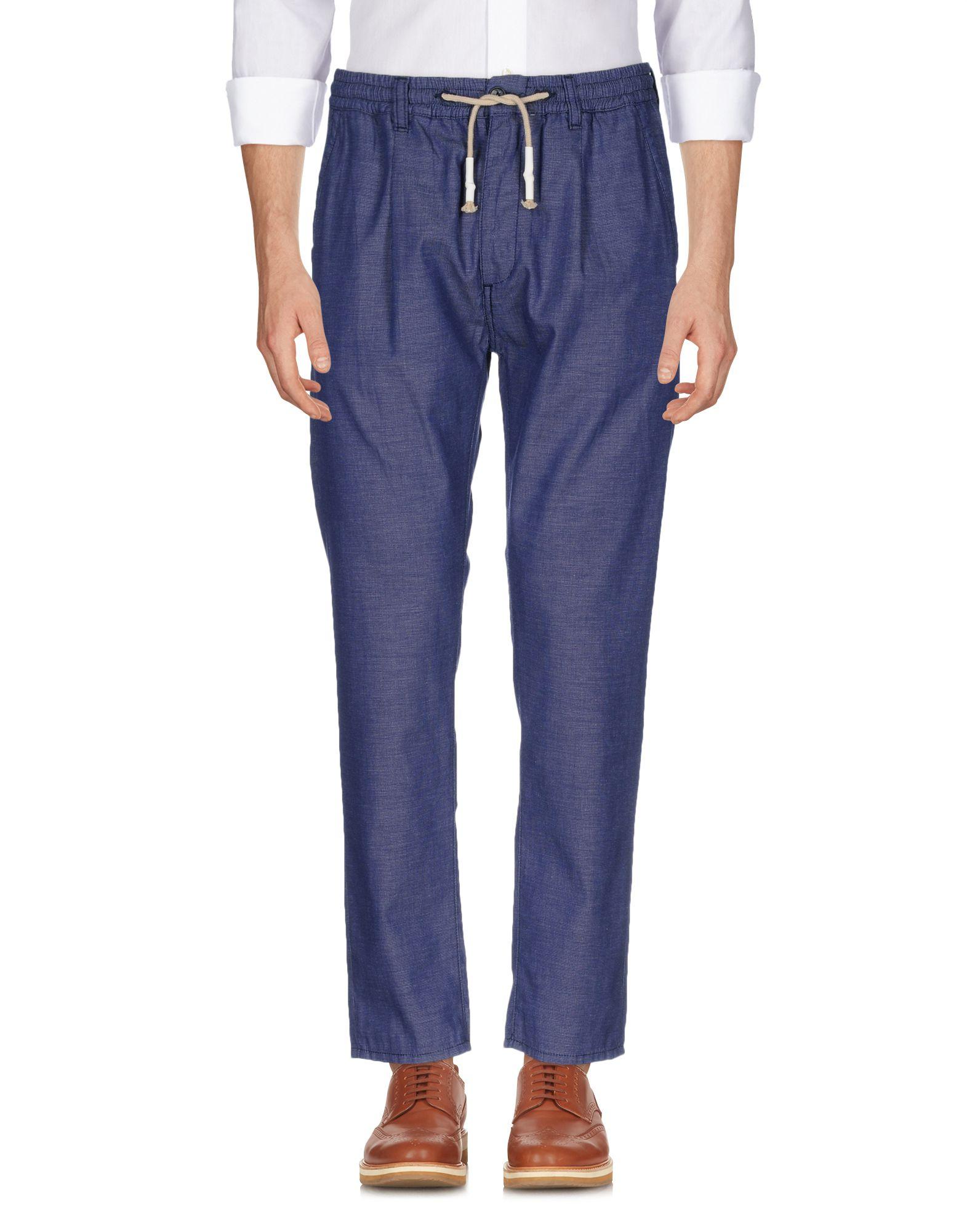 《送料無料》CRUNA メンズ パンツ ブルー 50 コットン 100%