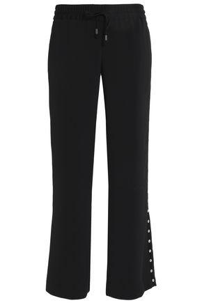 ALICE + OLIVIA Embellished twill straight-leg pants