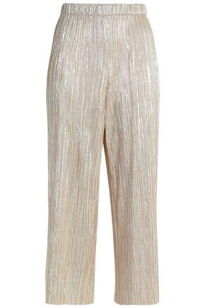 ALICE + OLIVIA Metallic plissé culottes