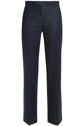 MAISON KITSUNÉ Pleated wool straight-leg pants