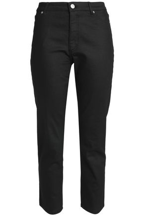 MAISON KITSUNÉ High-rise tapered jeans