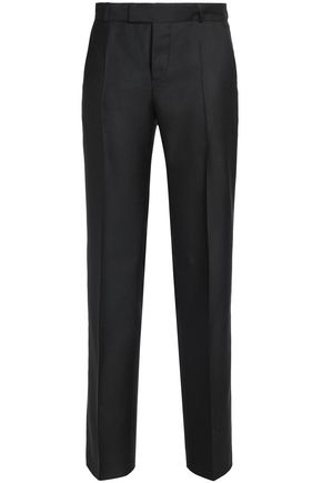 MAISON KITSUNÉ Pleated twill straight-leg pants
