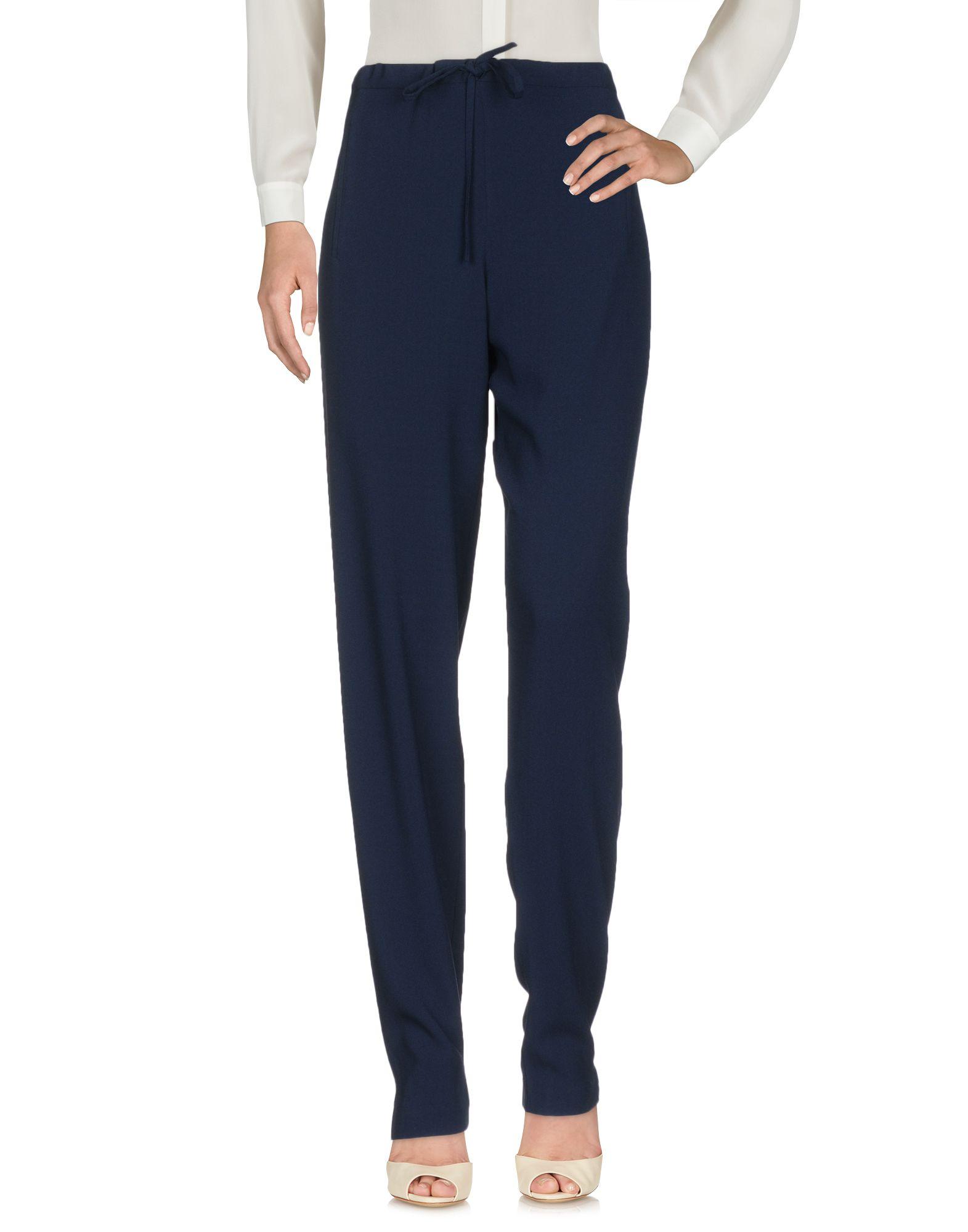 MARIA GRACHVOGEL Casual Pants in Dark Blue