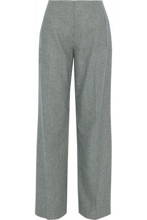 RAOUL Houndstooth wool-jacquard wide-leg pants