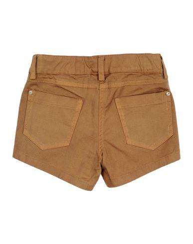 Фото 2 - Повседневные шорты коричневого цвета