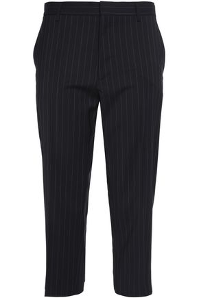 MAISON MARGIELA Cropped pintucked wool tapered pants