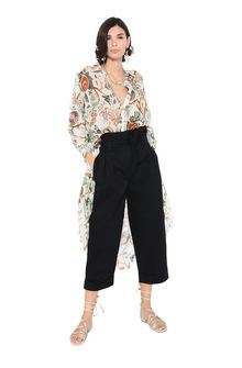 ALBERTA FERRETTI TROUSERS Woman Trousers with gathered waist band. f