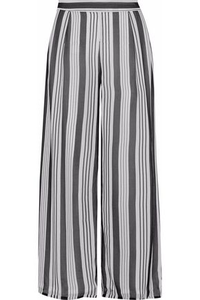 ZIMMERMANN Cropped striped silk-chiffon culottes