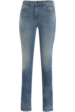 ALEXANDER WANG Faded mid-rise slim-leg jeans