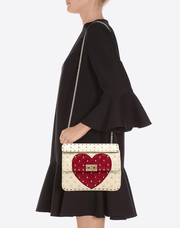 Medium Heart Rockstud Spike.it Bag