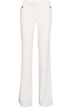 DEREK LAM Wool-blend crepe bootcut pants