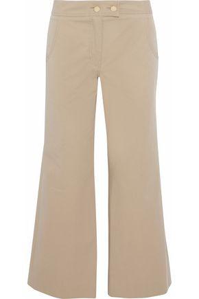 DEREK LAM Cropped cotton-twill wide-leg pants